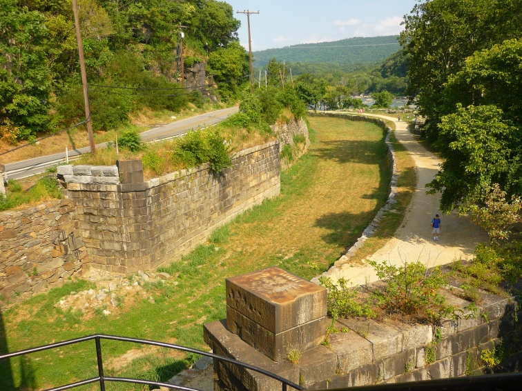 This is Lock 33 on the C&O Canal, which runs alongside the Potomac River on the northeastern side directly across from Harper's Ferry.